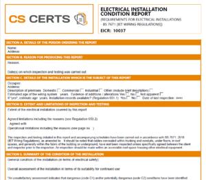 Electrical Certificate Online Creator