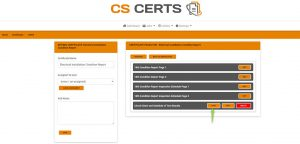 EICR Report - Certificate Layout